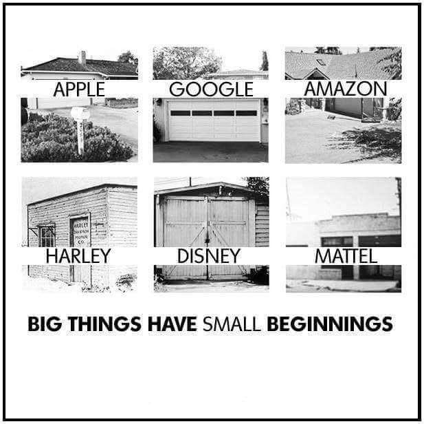 they all start with small beginning
